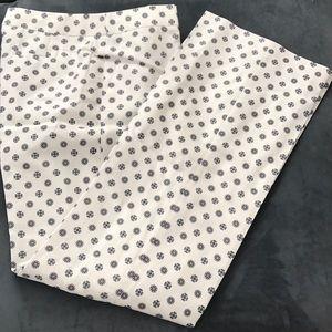 Jcrew full length printed trouser